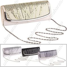 $19.79 - Luxurious Clutch Bag Handbag Evening Bag Purse with Shoulder Chain or Paillette Decor for Party Wedding from UltraBarato Gadgets