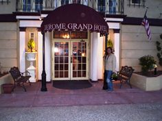 Grand Hotel Lobby Entrance, Jerome, AZ. A bunch of Orbs or maybe dust? Previous pic of entrance had zero dust/orbs??