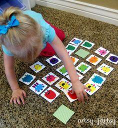 Preschool matching game. free printable