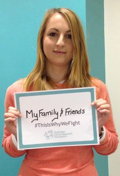 "Lauren from the ACRF shares why she's fighting: ""For my family and friends, so they never have to go through seeing another loved one suffer."" http://acrf.com.au/thisiswhywefight/ #ThisIsWhyWeFight #cancer #fightingcancer #helpus #support #hope #inspirational"