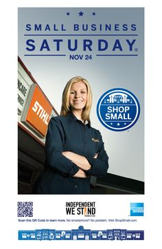 Small Business Saturday is November 24th. Please help us spread the word by sharing our posters!
