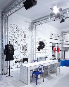 Chanel pop up store with a cupcake bar!!! and a Chanel nail bar :) Love the graffiti