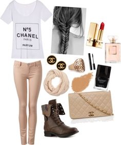 """Neutral chanel chic"" by syd-smalling on Polyvore"