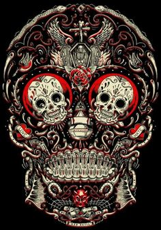 xcellent sugar skull wallpaper by - 64 - Free on ZEDGE™ Caveira Mexicana Tattoo, Zealand Tattoo, Totenkopf Tattoos, Candy Skulls, Sugar Skulls, Drawn Art, Day Of The Dead Skull, Sugar Skull Tattoos, Mexican Skull Tattoos