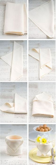 15 DIY Napkin Folding Techniques for a Fancy Dinner Table 15 D., dinner set up 15 DIY Napkin Folding Techniques for a Fancy Dinner Table 15 D. Easy Napkin Folding, Folding Napkins, Wedding Napkin Folding, Christmas Napkin Folding, Diy Inspiration, Deco Table, Decoration Table, Origami Decoration, Dinner Table