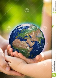 Children Holding Earth In Hands Royalty Free Stock Images - Image: 37858859