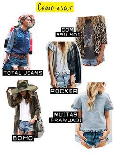 Post com looks usando shorts jeans, como usar shorts jeans. How to wear denim shorts, outifits with denim shorts. #fashionblog #blogdemoda