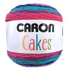 Caron Cakes Yarn - These are free crochet patterns which show off the yarn's self-striping capability beautifully - shawls, scarfs, sweaters, bags, etc. Caron Cake Crochet Patterns, Caron Cakes Crochet, Knitting Patterns, Knitting Stitches, Loom Knitting, Knitting Tutorials, Stitch Patterns, Easy Crochet, Free Crochet