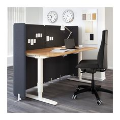 Bekant Screen For Desk Gray Open Office Office Set And