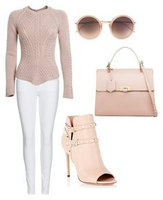 """""""Untitled #105"""" by lillylilit on Polyvore featuring Burberry, Balenciaga, Valentino and Linda Farrow"""