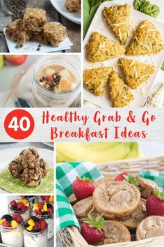 Mornings are easier when you have a few of these grab and go breakfast recipes up your sleeve. Getting out the door with a healthy breakfast in hand has never been easier! Super Healthy Recipes, Healthy Breakfast Recipes, Healthy Baking, Real Food Recipes, Healthy Food, Breakfast Wraps, Grab And Go Breakfast, Breakfast Ideas, Banana Oatmeal Smoothie