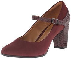 Clarks Women's Bavette Cathy Dress Pump, Burgundy Suede/Crocodile, 5 M US Clarks http://smile.amazon.com/dp/B00U7L76L8/ref=cm_sw_r_pi_dp_Zjicwb1XYF55V