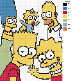 The Simpsons perler bead pattern