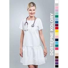 Sukienka Medyczna Hansa 0207 | Odzież damska | Dla lekarzy, farmaceutek i pielęgniarek. | Sklep internetowy Dersa | Kolorowe | Lekarska |