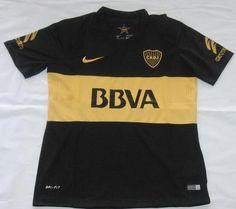 2016-17 Boca Junior Black Thaiand Short Sleeves Soccer Jersey