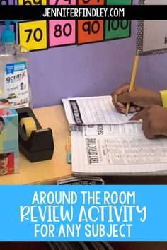 Make test prep fun with this interactive around the room review activity for any subject! It's a great way to prepare students for any unit or state test. Check out the post for ideas on how to implement it!
