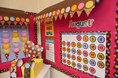 Bulletin Awnings.  Learn how to spice up your bulletin boards with this easy trick.