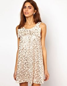 Enlarge Lashes Of London Swing Dress With Sequin Lace Bow