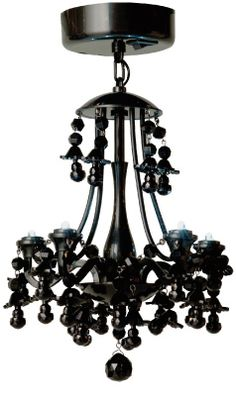 Wow, a Black Locker Chandelier...  definitely a step up from my locker decor!