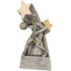 Premier Sport and Academic Awards Basketball Trophies, Star Trophy, File Image, Super Star, Lion Sculpture, Statue, Big, Female, Resin