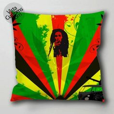 **Bob Marley** Crazy Cushion. ►►More fantastic pillows, pictures, music and videos of *Robert Nesta Marley* on: https://de.pinterest.com/ReggaeHeart/ http://vistacustoms.com/products/bob-marley-vistacustoms-com-pillow-case-cushion-cover-with-optional-1-or-2-side-print-and-available-in-size-16-8-20-24-28-30-36-inch-d3-jpg