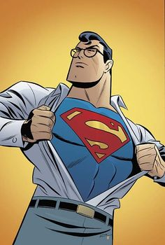 Adventures of Superman #4 cover by Bruce Timm