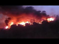 Pigeon Forge , Gatlinburg Fire (Aerial View) - Smoky Mountains - YouTube