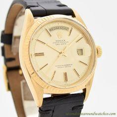 1960 Vintage Rolex Day-Date President Ref. 1803 18K Yellow Gold Watch