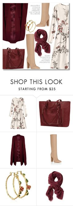 """""""22 Lace dress"""" by laurafox27 ❤ liked on Polyvore featuring WithChic, Gianvito Rossi, Disney and Banana Republic"""