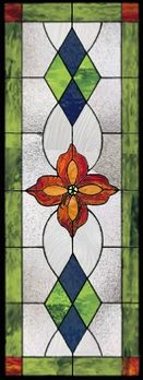traditional stained glass cabinet insert style 89