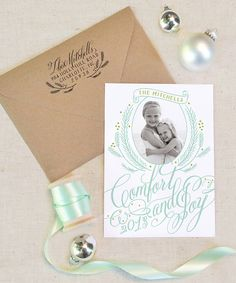 Christmas Photo Card: Comfort and Joy--5 x 7 Holiday, Family Christmas, Christmas Card