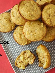 Apple Applesauce Muffins- no oil or refined sugar from Weelicious