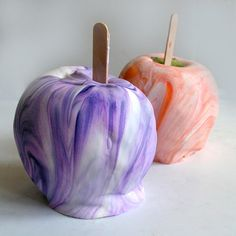 Totally groovy! Tie-dye Caramel Apples.  I think the residents would have fun with this.