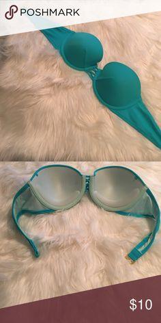 Strapless Victorias Secret bikini top Pretty blue color great condition Victoria's Secret Swim Bikinis