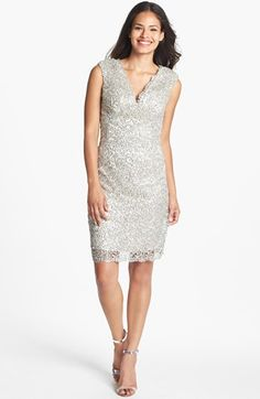 Conference dress (not walking the stage, but still an SED greeterMarina Metallic Lace Sheath Dress available at #Nordstrom