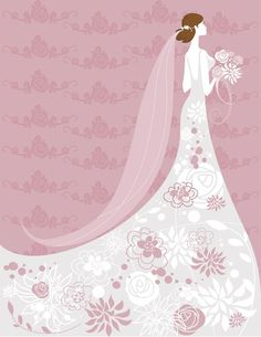 Set of Romantic Wedding Vector Background 03