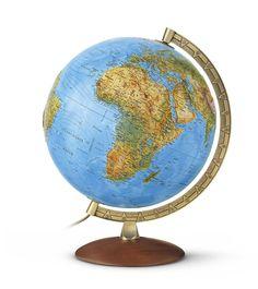 Nova Rico Blank Educational Globe Supplied with 4 Coloured Fibre Tip Pens 30 cm