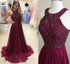 Long prom dress,chiffion prom dress,beautiful beading prom dress,high quality prom dress,dress for teens