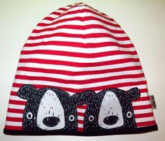 čepice Dva medvědi na proužku Baby Sewing, Hats, Hat, Hipster Hat