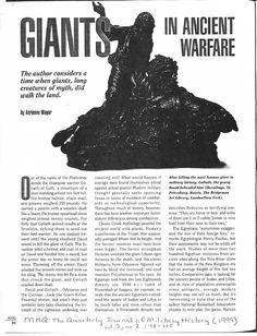 Giants in Ancient Warfare | Adrienne Mayor - Academia.edu
