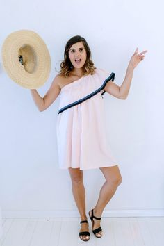 A Pair & A Spare | DIY One Shoulder Party Dress