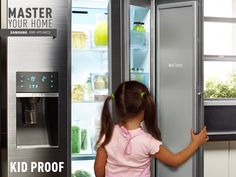Kids are unpredictable. But you can count on Metal Cooling to help you recover when the refrigerator door is accidentally left open. #MasterYourHome. http://smsn.us/Food_ShowCase_Refrigerator