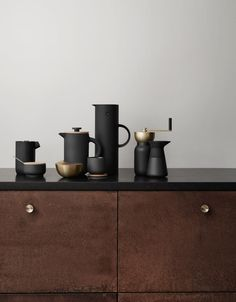 Italian design duo Daniel Debiasi and Federico Sandri, of Something created the perfect collection for coffee connoisseurs to help bring back that sacred ritual of brewing your own coffee and it's called Collar. Designed for Stelton, Collar includes an Italian cooktop espresso maker, a coffee grinder with jar, a milk jug, and a sugar bowl, to make it all happen.