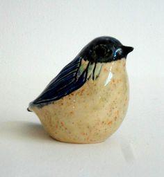 pottery bird by ecorock on Etsy