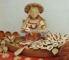 Ceramic artwork by master potter Enedina Vasquez of Atzompa, Oaxaca, Mexico