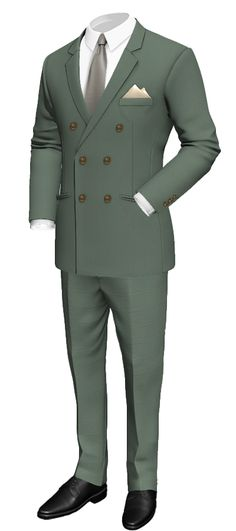 Green Double breasted wool Suit: http://www.tailor4less.com/en-us/men/suits/2493-green-double-breasted-wool-suit