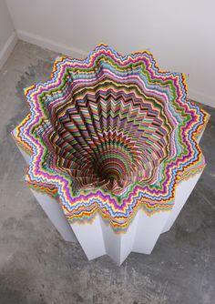 As psicodélicas esculturas de papel da artista Jen Stark stylo urbano-1
