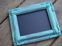 aqua  Shabby Chic  Chalkboard frame Photo by whatsyoursigndesigns, $16.00