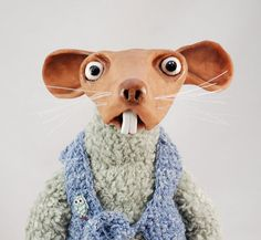 Teo rat  art doll ooak  animal  mouse by iasio on Etsy, $150.00