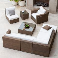 """Malaga 9pc All Weather Wicker Lounge Furniture Set by Westminster Furniture. $7995.00. Coffee Table - 35.5""""Wide x 35.5""""Deep x 11.75""""High. Sofa - 101.5""""Length x 35.5""""Deep x 30"""" High. 5 Year Warranty against Manufacture Defects. End Table - 17.5""""Wide x 17.5""""Deep x 18.5""""High. All Weather Wicker 9 Piece Lounge Sectional Set. This Malaga sectional set in Summer Grass color,  is designed to look beautiful under the sun, in the shade of your pavilion, or in your living ..."""